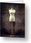 Necklace Greeting Cards - Mannequin Greeting Card by Joana Kruse