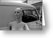 Partner Greeting Cards - Manniquin And Old Truck Greeting Card by Arni Katz