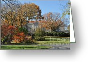 Cheekwood Gardens Greeting Cards - Mansion in the woods Greeting Card by Denise Ellis