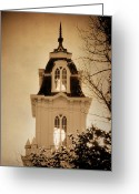 Mormon Temple Photography Greeting Cards - Manti Temple Spire Texture Greeting Card by La Rae  Roberts