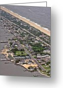 Aerials Greeting Cards - Mantoloking Barnegat Atlantic Greeting Card by Duncan Pearson