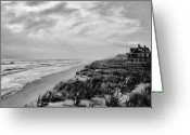 White Clouds Greeting Cards - Mantoloking Beach - Jersey Shore Greeting Card by Angie McKenzie