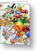 Pile Greeting Cards - Many marbles  Greeting Card by Garry Gay