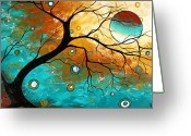 Upbeat Greeting Cards - Many Moons Ago by MADART Greeting Card by Megan Duncanson