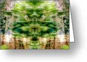 Shamanic Photo Greeting Cards - Many Secrets In The Woods Greeting Card by Jane Tripp