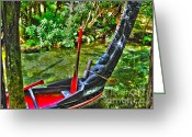 Maori Prints Greeting Cards - Maori Canoe Greeting Card by Joanne Kocwin