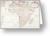Antique Map Digital Art Greeting Cards - Map Of Africa Greeting Card by Fototeca Storica Nazionale