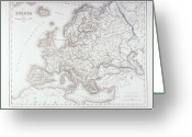 Antique Map Digital Art Greeting Cards - Map Of Europe Greeting Card by Fototeca Storica Nazionale