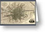 Text Map Photo Greeting Cards - Map Of The City Of Dublin, 1797 Greeting Card by Library Of Congress, Geography And Map Division