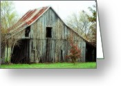 Old Country Roads Greeting Cards - Maple Barn Greeting Card by Lisa Moore