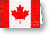 Canada Digital Art Greeting Cards - Maple Leaf abstract Greeting Card by Cristopher