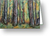Autumn Reliefs Greeting Cards - Maple Trees Greeting Card by Alison  Galvan