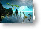 3d Greeting Cards - Marauder Greeting Card by Claude McCoy