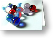 Toys Pastels Greeting Cards - Marble 17 Greeting Card by Sue Gardner
