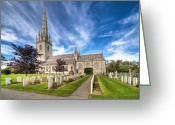Graveyard Digital Art Greeting Cards - Marble Church Greeting Card by Adrian Evans
