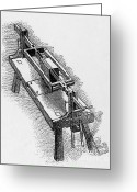 Vinci Greeting Cards - Marble Sewing Machine By Leonardo Da Greeting Card by Science Source