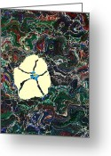 Marbled Flower Art Greeting Cards - Marbled flower Greeting Card by Melissa Murphy