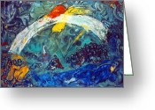 Noah Greeting Cards - Marc Chagall Greeting Card by Granger