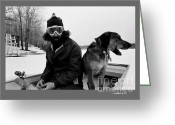 The Berkshires Greeting Cards - Marc Ice Boat Greeting Card by Jonathan Fine
