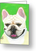 French Bulldog Prints Greeting Cards - Marcel French Bulldog Greeting Card by Ania M Milo