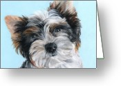Lapdog Greeting Cards - Marcel Greeting Card by Monique Geurts