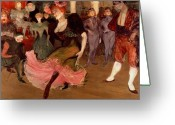 Floor Painting Greeting Cards - Marcelle Lender dancing the Bolero in Chilperic Greeting Card by Henri de Toulouse Lautrec 