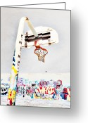 Basketball Greeting Cards - March 23 2010 Greeting Card by Tara Turner