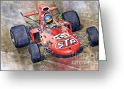 March Greeting Cards - March 711 Ford Ronnie Peterson GP Italia 1971 Greeting Card by Yuriy  Shevchuk