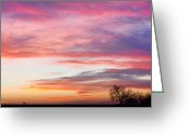 March Greeting Cards - March Countryside Sunrise  Greeting Card by James Bo Insogna