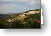 Steven Gray Greeting Cards - Marche Countryside Greeting Card by Steven Gray