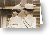 Elections Greeting Cards - Marchers in Suffrage Parade Greeting Card by Padre Art