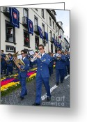 Philharmonic Greeting Cards - Marching band Greeting Card by Gaspar Avila