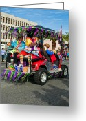 Thor Photo Greeting Cards - Mardi Gras Clowning Greeting Card by Steve Harrington