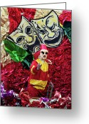 Highsmith Greeting Cards - Mardi Gras Costume - New Orleans Louisiana Greeting Card by Carol M Highsmith