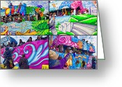 Thor Photo Greeting Cards - Mardi Gras Fun Greeting Card by Steve Harrington