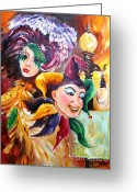 Masks Greeting Cards - Mardi Gras Images Greeting Card by Diane Millsap