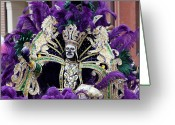 Highsmith Greeting Cards - Mardi Gras Zulu King - New Orleans Louisiana Greeting Card by Carol M Highsmith