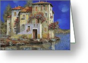 Early Greeting Cards - Mareblu Greeting Card by Guido Borelli