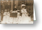 Elections Greeting Cards - Margaret Hinchey Carrying Banner in New York City Suffrage Parade Greeting Card by Padre Art