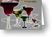 Glasses Greeting Cards - Margarita s Greeting Card by Cheryl Young