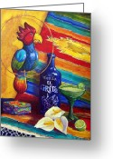 Southwest Greeting Cards - Margaritaville Greeting Card by Candy Mayer