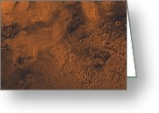 Gully Greeting Cards - Margaritifer Sinus Region Of Mars Greeting Card by Stocktrek Images