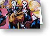 Mexican Greeting Cards - Mariachi III Greeting Card by Sharon Sieben