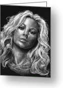 Sarasota Mixed Media Greeting Cards - Mariah Carey Greeting Card by Michael Trujillo