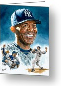 Sports Prints Greeting Cards - Mariano Greeting Card by Tom Hedderich