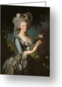 Versailles Greeting Cards - Marie Antoinette Greeting Card by Elisabeth Louise Vigee Lebrun