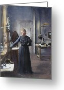 Turn Of The Century Greeting Cards - Marie Curie (1867-1934) Greeting Card by Granger