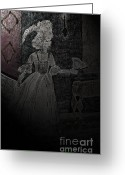 Illustrative Drawings Greeting Cards - Maries Ghost Greeting Card by First Star Art