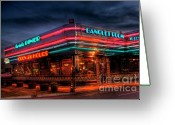 Photographers Ellipse Greeting Cards - Marietta Diner Greeting Card by Corky Willis Atlanta Photography