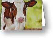 Farm Greeting Cards - Marigold Greeting Card by Laura Carey